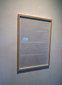 The International Western: Calling All,  morse wall text on paper