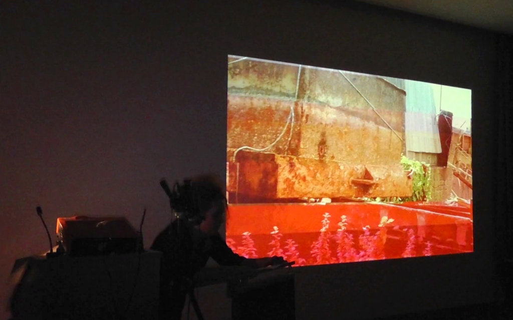 'Time Channel, Birgitta Hosea, performance with digital video, 2014