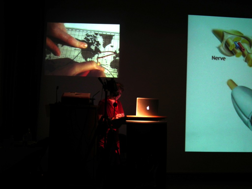 'Fear of Unstructured Time', Claudia Firth, performative lecture with slides, video and drawing, 2014
